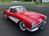 1959 Corvette Convertible. Beautiful Roman Red Exterior