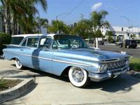 1959 Chevrolet Parkwood Station Wagon, blue, 56,000