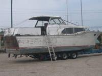 1959 Chris Craft Constellation 40'. Project boat, in