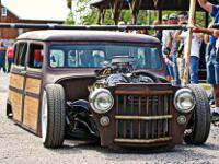 0ne of a kind 1959 Jeep Willys wagon woody ratrod /