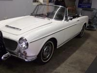 1959 Fiat 1200  4 speed. Nice little car that runs