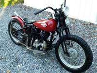 Classic 1959 Harley Davidson WL 45ci motorcycle. This