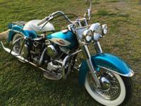 1959 Harley Davidson Panhead, excellent condition.
