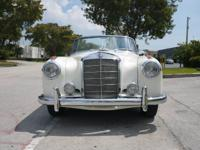 1959 MERCEDES BENZ 220S CABRIOLET, 4 SPEED COLUMN