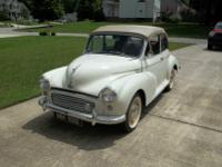 This is a 1959 Morris Minor Convertible in great