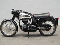 1959 Norton ES2. A staple in the Norton model line from