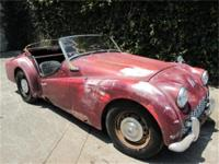 1959 Triumph TR3 1959 Triumph TR3, Red with Black