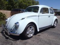 1959 Bug ? California Style!! This light blue bug has