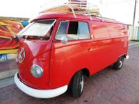 "1959 VW PANEL BUS, CUSTOM.- SWR FACTORY ""SEALING WAX"