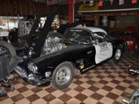 1959 Chevrolet Corvette Pro-Street, Blown 454V8, 350