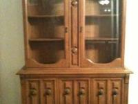 China Cabinet & Hutch 2 separate pieces bottom = 54 W x