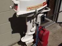 Johnson 5.5 hp outboard motor, 2 stroke short shaft