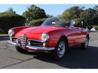 1960 Alfa Romeo Spider SPIDER 1300  The car is very