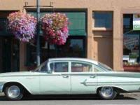 1960 Sea Foam Green Chevy Bel Air 4 door modified sedan