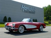 This 1960 Chevrolet Corvette Roadster features a 283 V8