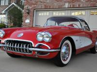 A great 1960 Corvette in classic Red with white coves