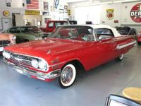 '60 Chevy Impala 2 Dr Convertible with red exterior and