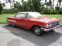 1960 chevy impala,ext.red/white, int. red/white