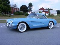 1960 Corvette Convertible, Horizon Blue exterior with a