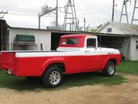 1960 F100 PICKUP HAS A 292 V8 REBUILT. NEW BRAKES, NEW