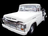 1960 FORD F-100 CUSTOM CAB 223 SIX CYLINDER, 3 SPD.
