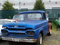 1960 Ford Pickup. Short-wheel base. Step-side. Has a