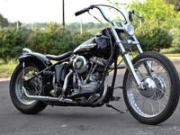 This is a titled HD 1960 FL Panhead -Rebuilt Motor and