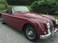 This 1960 Jaguar XK150 Roadster is in a excellent
