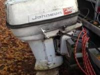For Sale- 1960 Johnson 40 horse outboard motor. Model