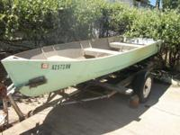 metal hull utility fishing boat with Minn Kota Endura