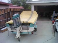 1960 Majek Redfish 15 foot fiberglass Ski Boat, with