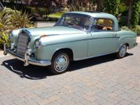 Stunning 1960 Mercedes Benz 220SE Coupe! The exterior