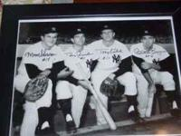 1960 New York Yankess infield autographed framed