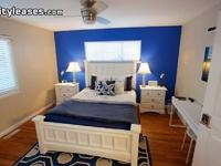Brand new, beautiful, furnished bedroom with a queen