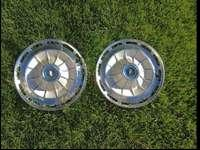 one pair of 1960s hubcaps in very good condition. I