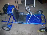 it is a 1960's fox go-kart with a new 2012 6.5 hp