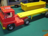 Collector toy. Johnny Express with tractor, trailer,