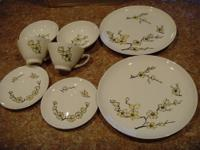 1960's Marcrest Hand Decorated Dinnerware, 4 Piece