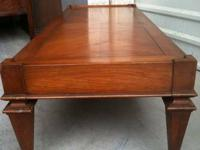 1960'S WEIMAN HEIRLOOM SOLID FLAME WALNUT COFFEE TABLE