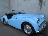 1960 Triumph TR3 1960 Triumph TR3, light blue with