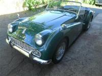 Just arrived....a nice, excellent running TR3A with