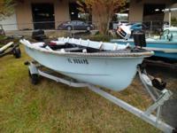 1960 Ward Sea King 14' John Boat, Evinrude 18HP, Solid