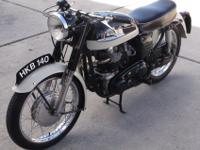 NORTON DOMINATOR 88 with EXTREMELY RARE FACTORY