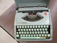 1960's Hermes Rocket Typewriter with case top mint