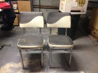 Vintage black and white kitchen chairs from the 1960's