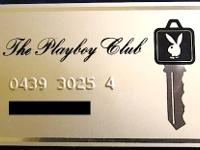 A PLAYBOY CLUB GOLD KEYCARD FOR EXCLUSIVE MEMBERS FROM