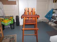 1960s American Teach N Fun Toys Baby Doll High Chair.