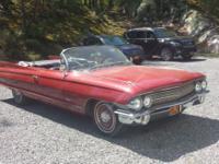 1961 Cadillac Series 62 convertible rare. 84000 miles