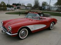 1961 Chevrolet Corvette  4 SPEED ROMAN RED THE BODY IS