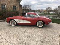 Beautiful 1961 Corvette convertible with hardtop option